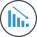 bars, business, data, graph, low icon