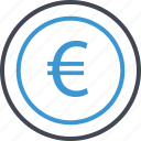 business, euro, money, pay, sign icon
