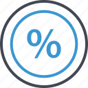 business, interest, percent, percentage, rate icon