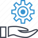business, hand, options, setup, work icon