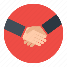 business, cooperation, deal, hand, handshake, partners icon