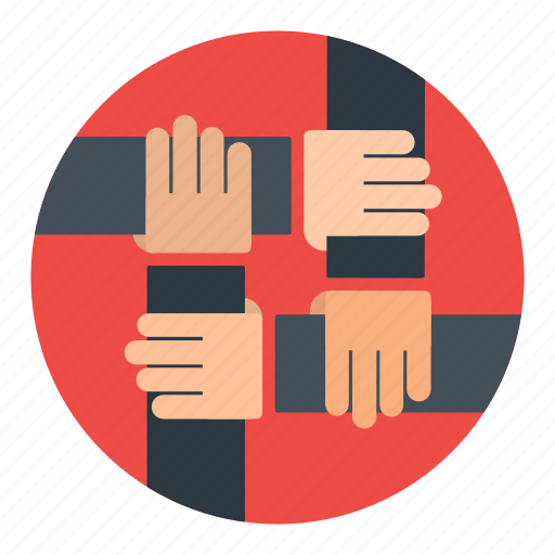 business, cooperation, group, hand, partners, partnership, team icon