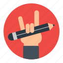 business, edit, hand, manage, pencil, setting, work icon