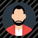 account, avatar, businessman, male, person, profile, user