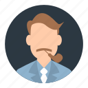 account, avatar, businessman, male, person, profile, user icon