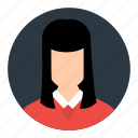 account, avatar, businesswoman, person, profile, user icon