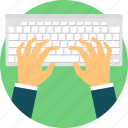 blog, keyboard, overwork, type, typing, typist, writing icon
