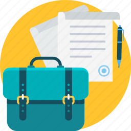 bag, business, document, documents, file, office, paper icon