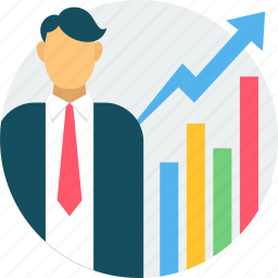 business, career, chart, graph, growth, success, work icon
