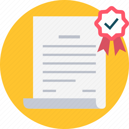 agreement, award, certificate, degree, deliverable, diploma, document icon