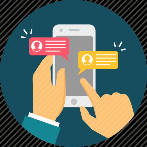 Chat, app, media, mobile, social, mobilisation, modernization icon - Download on Iconfinder