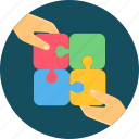 business, collaborate, collaboration, collaborative, cooperation, team, work icon