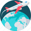 business, flight, holidays, plane, tour, travel, vacation icon