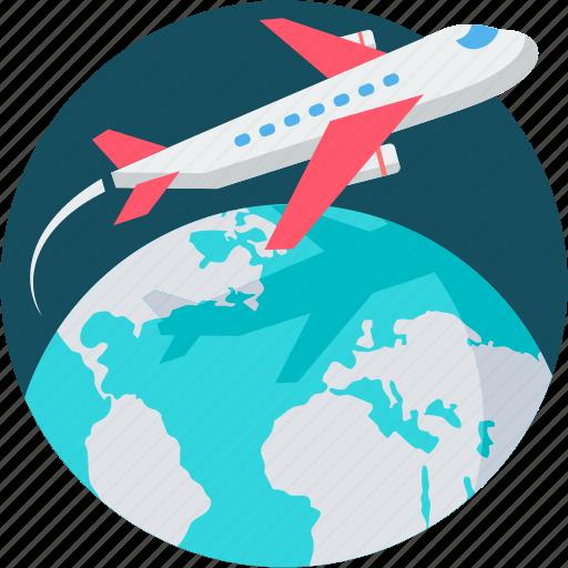business, flight, holidays, plane, tour, travel, vacation icon