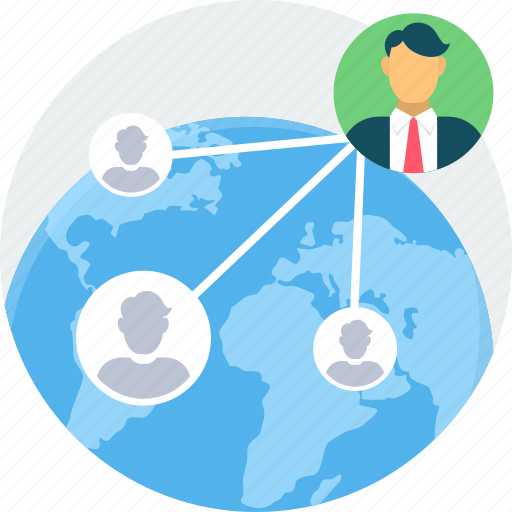 communication, connection, global, interaction, link, social, users icon