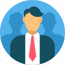 business, dashboard, leadership, management, username icon