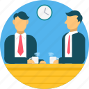 business, chat, conference, conversation, discussion, meeting, people icon