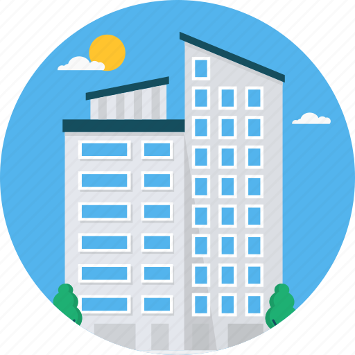 architecture, building, city, construction, office icon