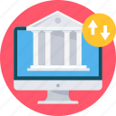 bank, banking, financial, institution, online icon