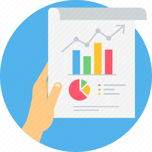 analytics, business, chart, diagram, graph, report icon