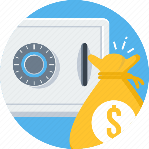 business, currency, finance, money, payment, safe icon