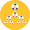 building, business, hierarchy, organization, structure, team icon