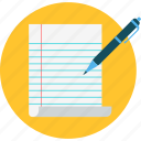 document, edit, editing, notes, text, write, writing icon