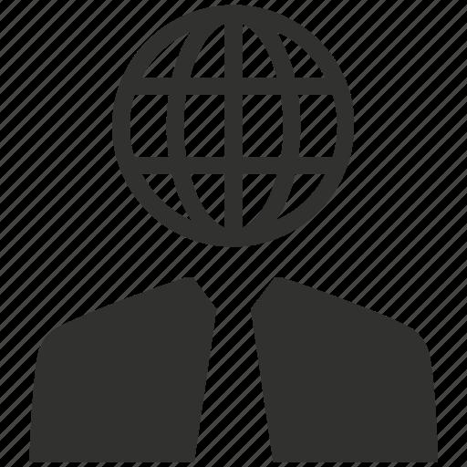 business, businessman, communication, global communication icon