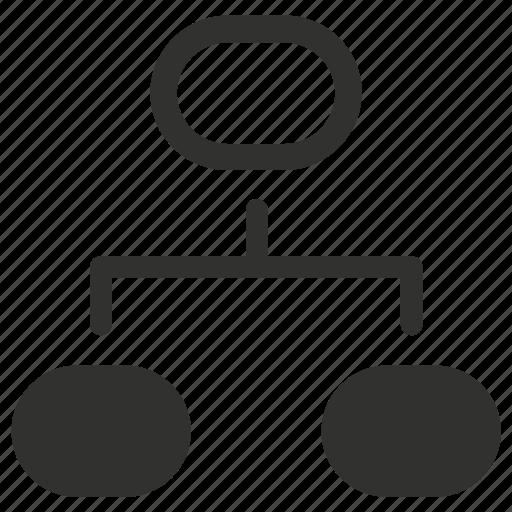 flowchart, hierarchy, menu, scheme icon
