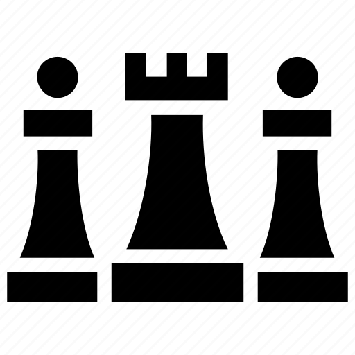 Business strategy, chess pieces, perspective plan, strategic management, strategic planning icon - Download on Iconfinder