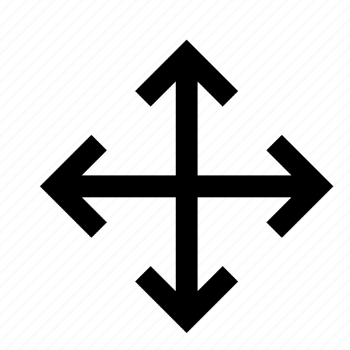 arrow, down, influence, left, resize, right, up icon