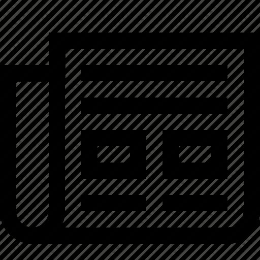 branding, letter, marketing, newspaper, nondigital, pramotion icon