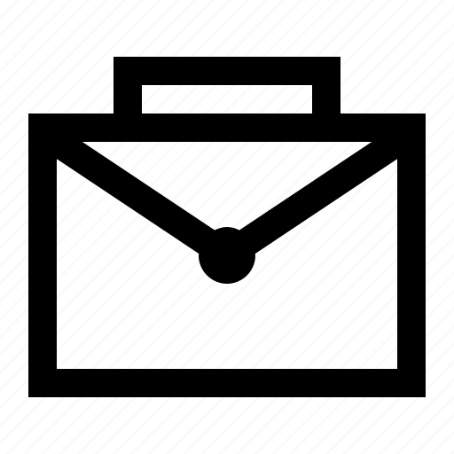 briefcase, business, finance, mail, office, sales, suitcase icon