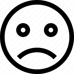emoji, face, sad, sadness, sign, smiley icon