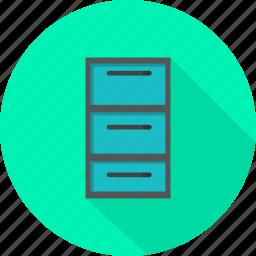 drawer, furniture icon