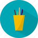 business, organized, pen, pencil icon