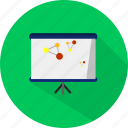 blackboard, business, meeting, presentation icon