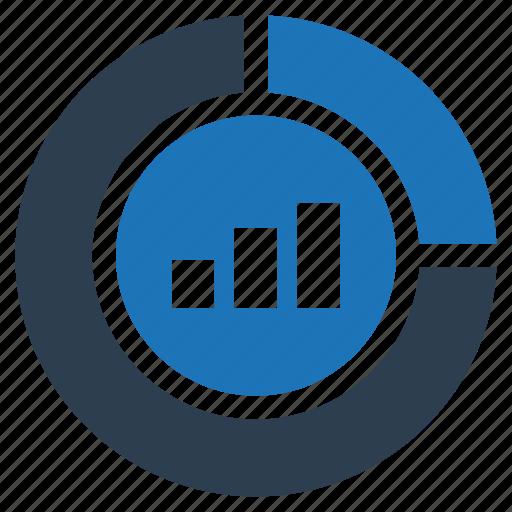 bar graph, business, chart, graph, marketing graph, pie chart icon