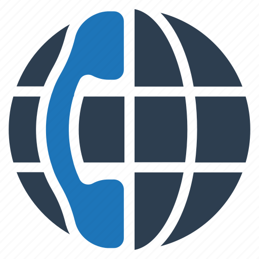 call center, contact us, customer support, global business, international call icon