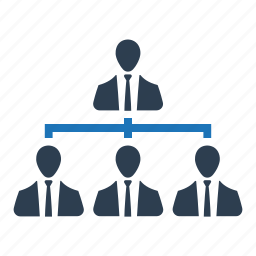 business, business team, hierarchy, management icon