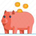 bank, cash, coin, investment, money, pig, piggy icon