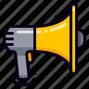 advertising, bullhorn, promotion, marketing, megaphone
