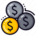 coins, investment, money, cash, coin, dollar