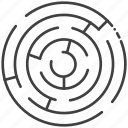abstract, business, concept, element, game, idea, labyrinth icon