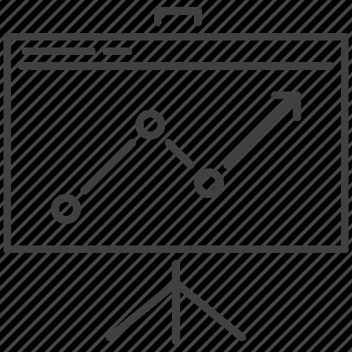 board, chart, presentation, report icon