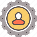 person, production, productivity, review, setting, startup, workforce icon