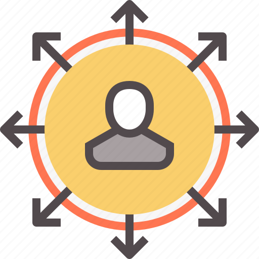allocation, network, people, person, review, sell, staff icon