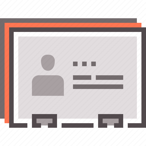 business, contacts, contract, document, paper icon