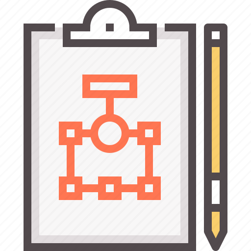business, clip board, pen, pencil, plan, planning, strategy icon