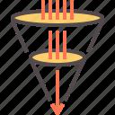 business funnel, clone, funnel, marketing, sale funnel, sales, social funnel icon